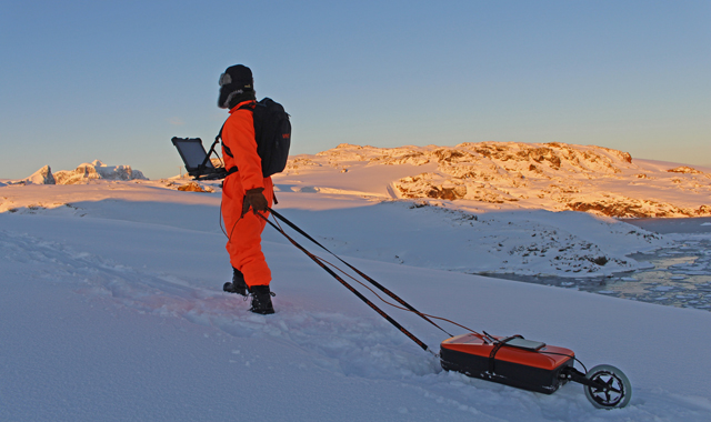 example of application of VIY3-300 GPR