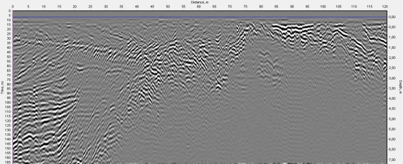 example of VIY3 ground penetrating radar using in Antarctica