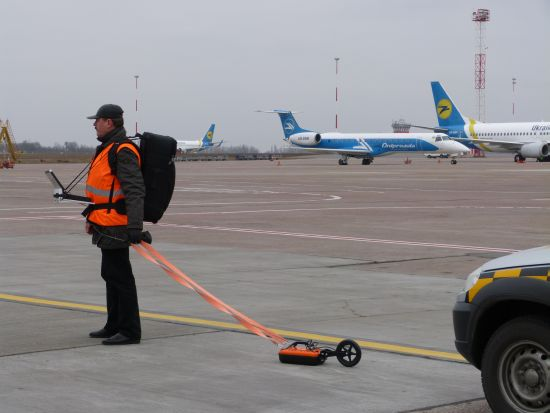 investigation in airport with VIY3 ground penetrating radar