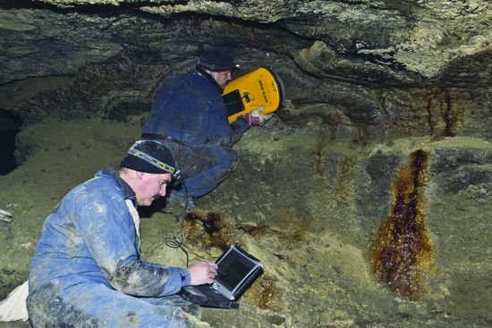 Cave survey with VIY3 ground penetrating radar